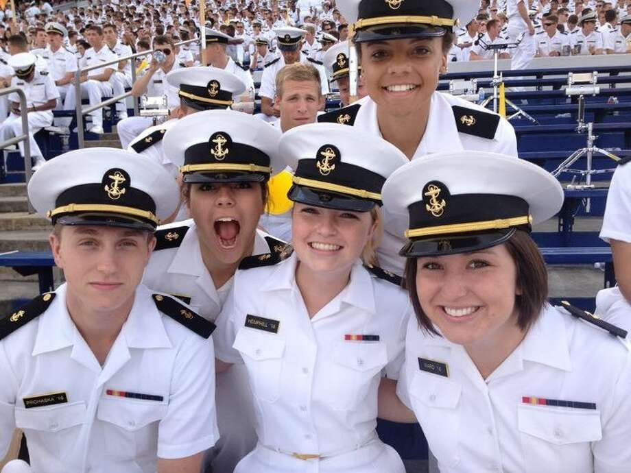 Hi, Melissa.   Finally received the names of four midshipmen surrounding Sydney Hemphill at a Navy football game.    L to R, Bryan Prohaska, Madison Beiler, Erin Payne and Paige Ward.     Cheers.   sydneyhemphill profile Photo: Courtesy