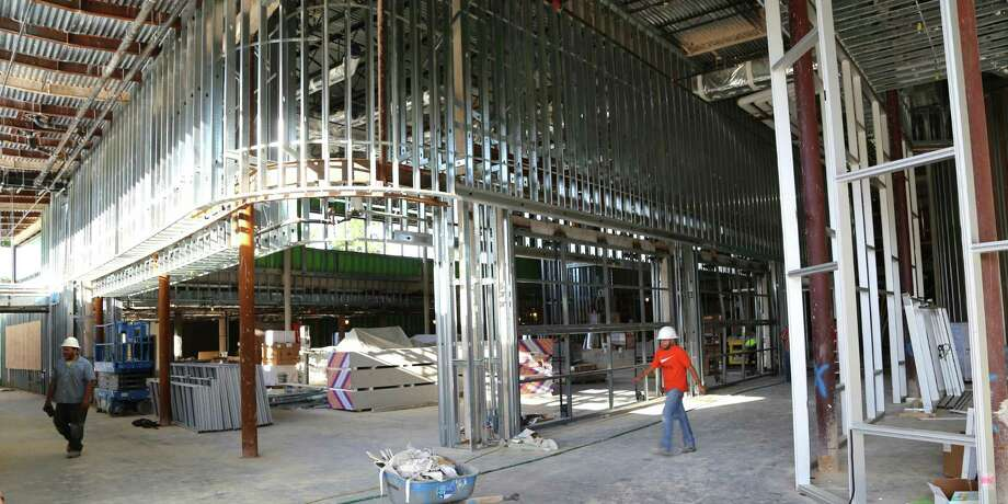High ceilings accentuate framing in the new Rummel Creek school cafeteria. Photo: Courtesy