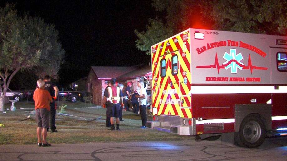 Two people were hospitalized after crashing into a house on the Northwest Side Wednesday morning. Photo: 21 Pro Video