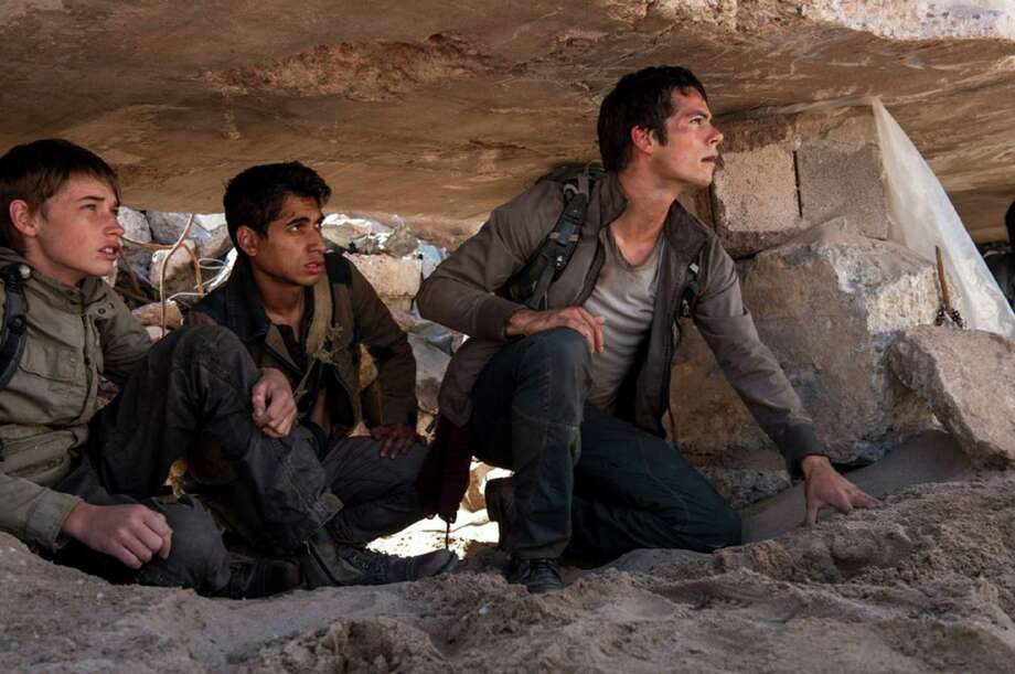 Alexander Flores, Dylan O'Brien and Jacob Lofland in Maze Runner: The Scorch Trials  (Richard Foreman, Jr./Twentieth Century Fox) Photo: Twentieth Century Fox, HO / TNS