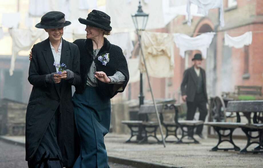"""Carey Mulligan (left) stars as Maud Watts and Anne-Marie Duff (right) plays Violet Miller in """"Suffragette."""" Illustrates FALLFILMS-ADV12 (category e), by Ann Hornaday 2015, The Washington Post. Moved Thursday, Sept. 10, 2015. (MUST CREDIT: Steffan Hill/Focus Features.) Photo: HANDOUT, STR / THE WASHINGTON POST"""