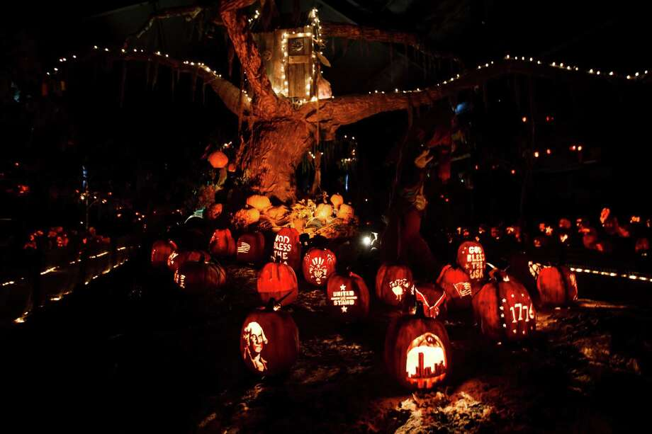 A pumpkin patch is an annual attraction at Dewberry Farms. Photo: Michael Paulsen, Staff / © 2012 Houston Chronicle