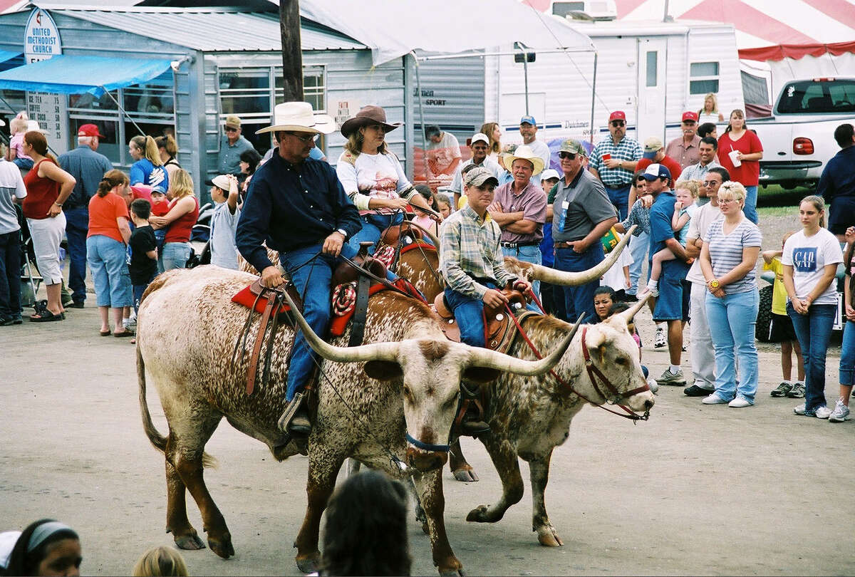 A parade kicks off the festivities at the Texas Rice Festival in Winnie.
