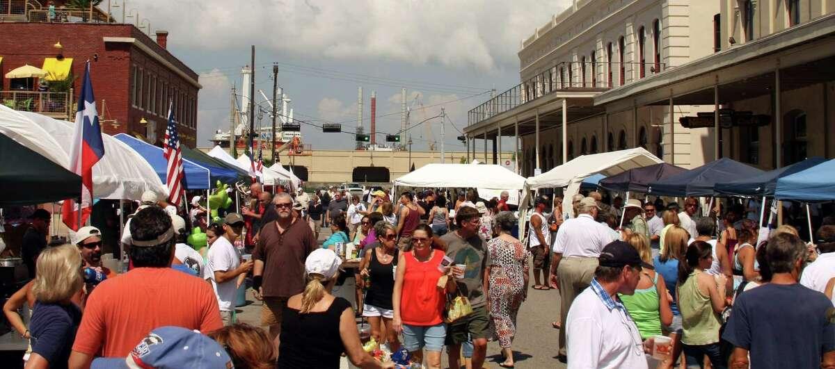 Galveston Island Shrimp Festival in the historic Strand District.