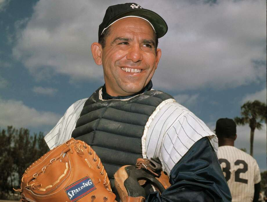 New York Yankee catcher Yogi Berra poses at spring training in Florida, in an undated file photo. Berra, the Yankees Hall of Fame catcher has died. He was 90. Photo: Associated Press / AP