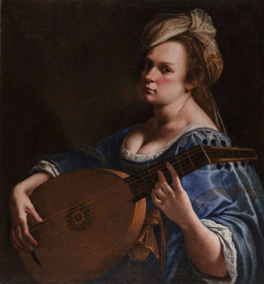 """The Wadsworth Atheneum's new acquisition, Artemisia Gentileschi's """"Self-Portrait as a Lute Player (1616-18),"""" debuted last week in the renovated art museum. Photo: Contributed Photo"""