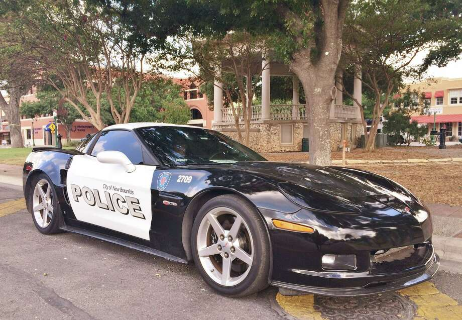 "The New Braunfels Police Department's 2007 Corvette — named ""Coptimus Prime"" — will be used as a community outreach tool for two or three years before the department puts it up for auction. Photo: New Braunfels Police Department/Facebook"