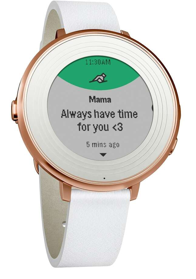 Palo Alto smartwatch maker Pebble on Wednesday introduced the $249 Time Round.
