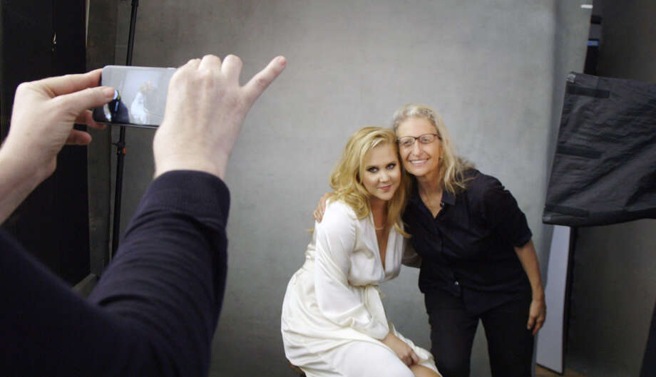 A backstage look at Amy Schumer posing for photographer Annie Leibovitz for the 43rd annual Pirelli Calendar. Photo: Pirelli