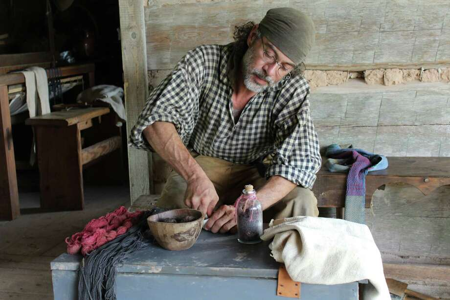 "Visit George Ranch Historical Park on Saturday, Sept. 26, for a special hands-on activity featuring historic cloth-dyeing techniques. The event will be held at 11 a.m. and 2 p.m. at the 1830s log cabin area; living history interpreters ""Henry"" and ""Nancy Jones"" will teach participants about pioneer cloth dyeing and offer suggestions for dyeing cloth with items purchased from a regular grocery store. Photo: George Ranch Historical Park"