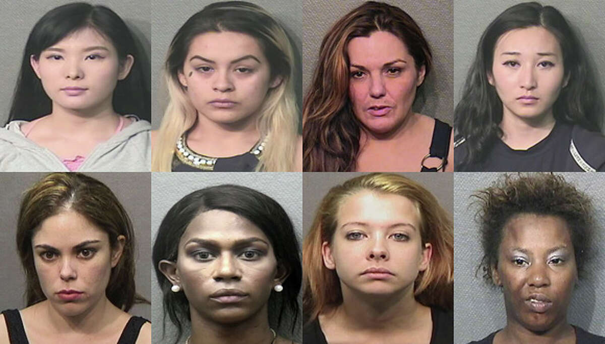 The above suspects were among those arrested and charged as part of a September prostitution sting by the Houston Police Department.