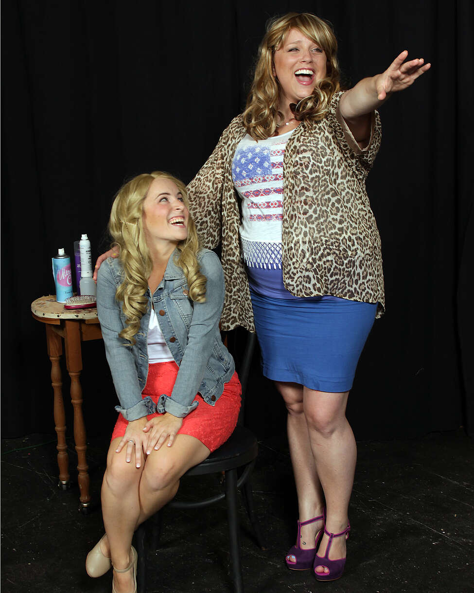 Christine Meglino and Molly Rose McGrath (as Elle and Paulette)