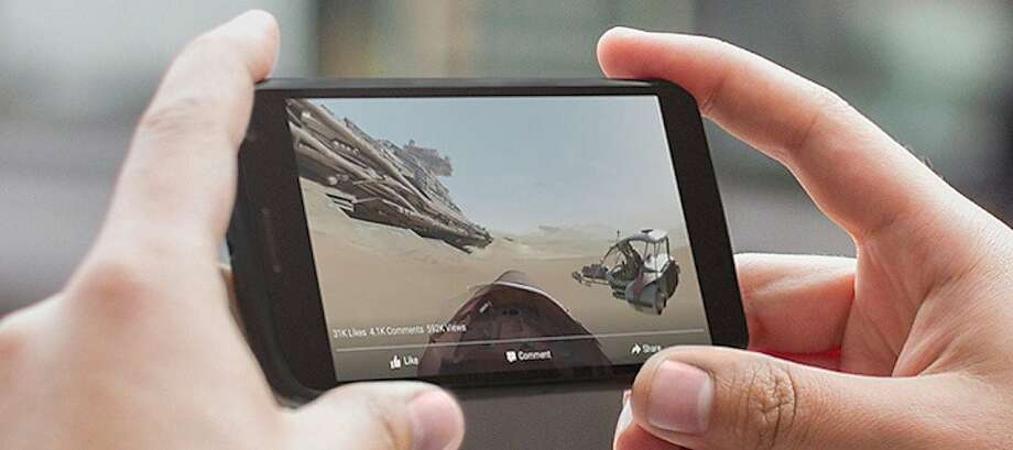 Facebook users can rotate their viewpoint as they watch 360-degree videos. Photo: Facebook