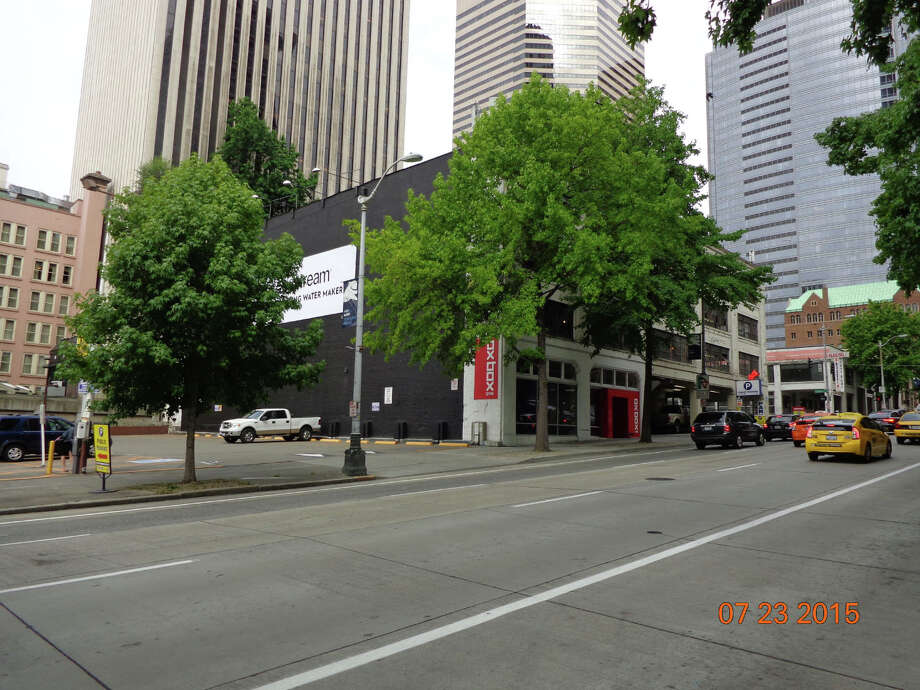 Photos show the block that will be at least partially transformed into a 101-story tower in the coming years, according to plans filed with the city. Photo: City Of Seattle Planning And Development