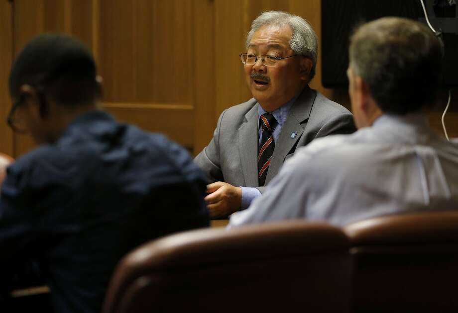 San Francisco Mayor Ed Lee speaks with the San Francisco Chronicle editorial board at the Chronicle's offices in San Francisco, California, on Wednesday, Sept. 23, 2015. Photo: Connor Radnovich, The Chronicle