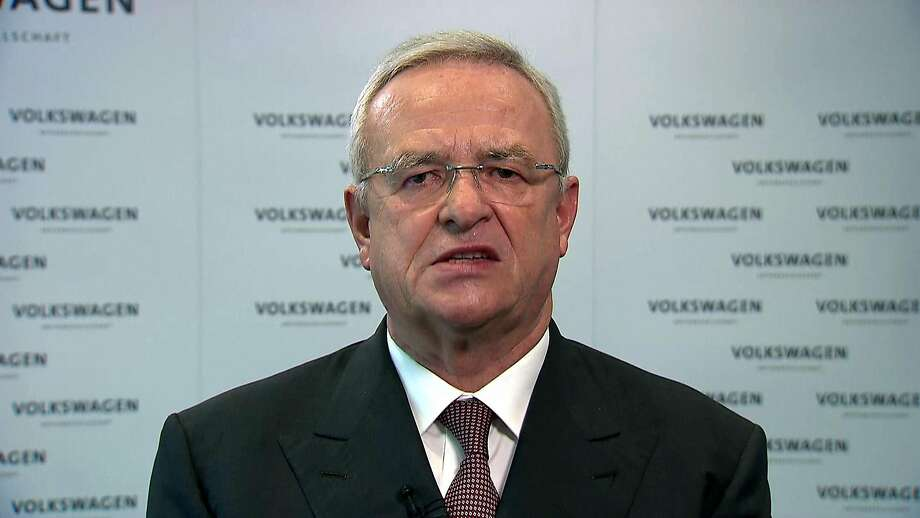 Volkswagen CEO Martin Winterkorn speaks to the media on Sept. 22, 2015 at VW headquarters in Wolfsburg, Germany. Winterkorn announced his resignation during the press conference. (Action Press/ZUma Press/TNS) Photo: Action Press, McClatchy-Tribune News Service