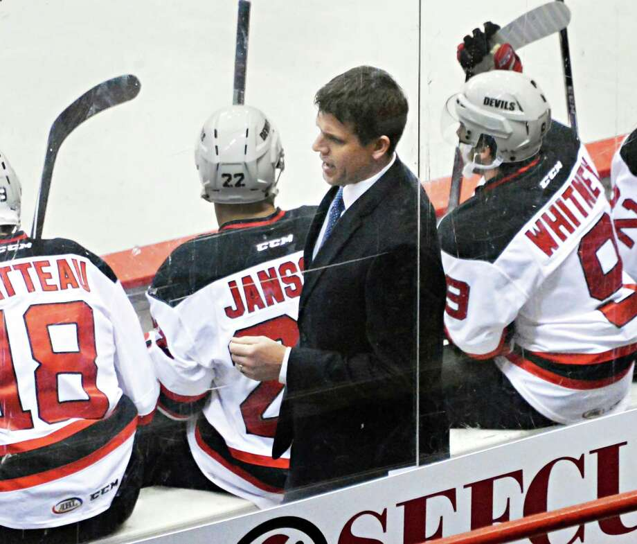 Albany Devils head coach Rick Kowalsky during Saturday's game against  Portland Pirates at the Times Union Center Dec. 6, 2014, in Albany, NY.   (John Carl D'Annibale / Times Union) Photo: John Carl D'Annibale / 00029286E