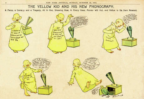 The Yellow Kid (1896 – 1898) by Richard Felton Outcault  The bizarre baldheaded kid whose thoughts appeared on his nightshirt would seem an unlikely choice for the first superstar of the comics, but as an inner-city street urchin he would reflect the milieu of many of the first audience to read the funny pages.