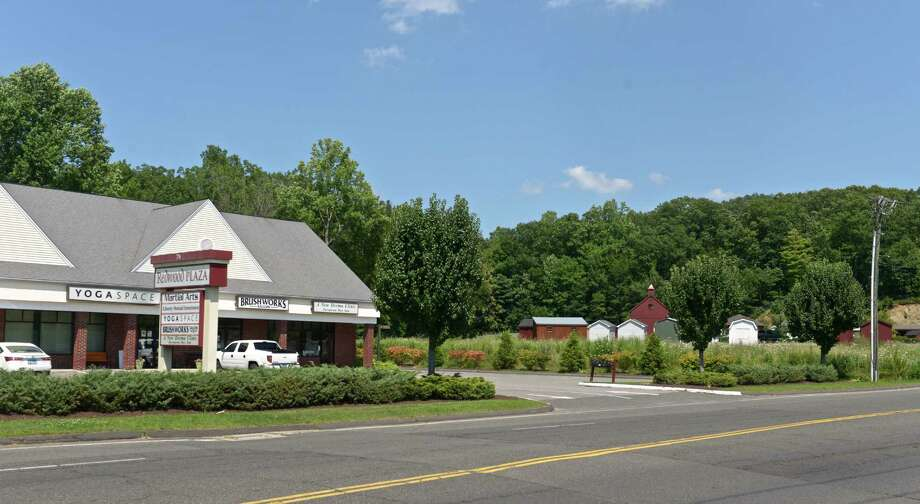 A developer is seeking to build a 3,400-square-foot gas station at 84 Stony Hill Road, between the redwood Plaza and the Barn Yard, in Bethel, Conn. Tuesday, July 21, 2015. Photo: H John Voorhees III / Hearst Connecticut Media / The News-Times