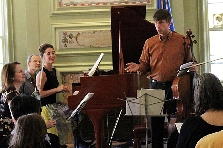 The Lions Gate Trio, shown at an earlier performance at the Fairfield Public LIbrary, will perform a concert of Franz Schubert's music Sept. 27 at the library. Photo: Contributed / Contributed Photo / Fairfield Citizen