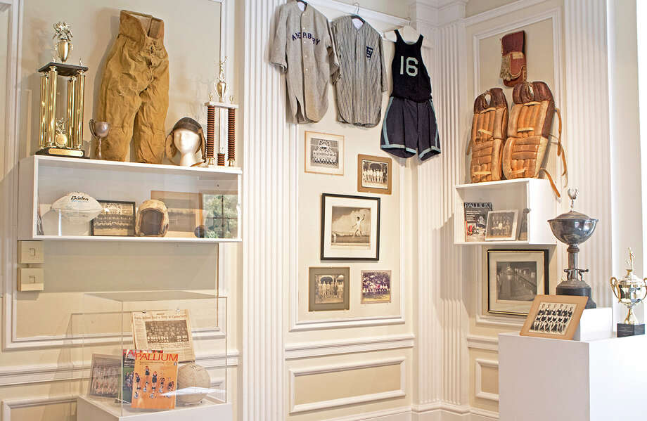 "The Duffy Family Art Gallery at Canterbury School in New Milford is presenting its first show of the year, ""Canterbury Through the Century,"" to celebrate the private school's 100th anniversary. The exhibit, which will run through Oct. 3, features memorabilia from different eras of the school, including athletics, shown above. Click through to see famous Canterbury alum...  Photo: Courtesy Of Canterbury School / The News-Times Contributed"