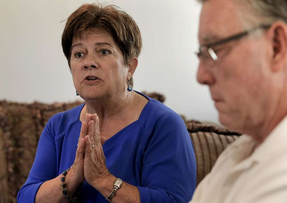 Liz Sullivan and James Steinle at their home in Livermore, Calif., the mother and father of Kate Steinle who was shot and killed on Pier 14 in July, in San Francisco, Calif., talk about their daughter. Photo: Michael Macor, The Chronicle