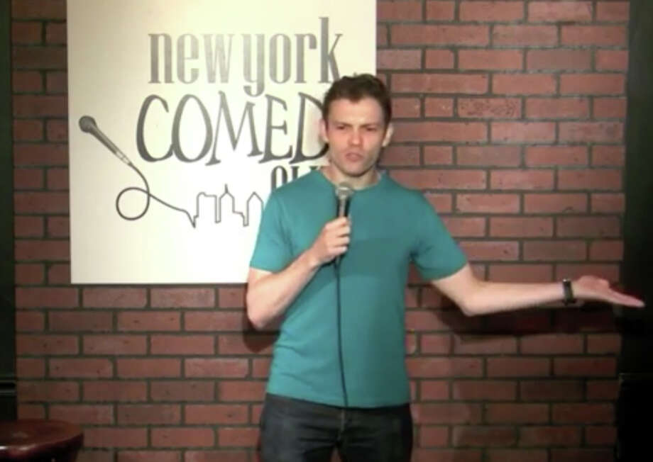 Comedian and Stamford native Ben Rosenfeld performs at a New York City club, seen here in this screengrab. find more at bigbencomedy.com Photo: Contributed