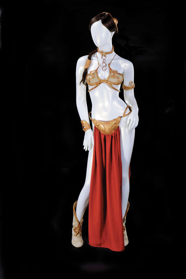 """Carrie Fisher's Leia slave costume from """"Star Wars: Return of the Jedi""""is one ofis one of the marquee items for sale during the Hollywood 74 auction Tuesday through Thursday in Hollywood.Expected sales price:$80,000-120,000. Photo: Hollywood Auction 74"""