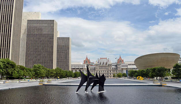 What's missing from this landmark? See next slide to reveal the answer. Photo: John Carl D'Annibale, TImes Union Photo