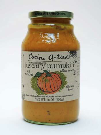 Pumpkin-spice-flavored pasta sauce in the Times Union studio Tuesday Sept. 22, 2015 in Colonie, NY.  (John Carl D'Annibale / Times Union) Photo: John Carl D'Annibale / 00033442A