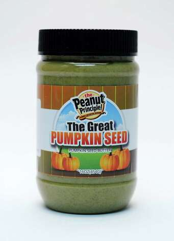 The Peanut Principle's pumpkin seed butter in the Times Union studio Tuesday Sept. 22, 2015 in Colonie, NY.  (John Carl D'Annibale / Times Union) Photo: John Carl D'Annibale / 00033442A