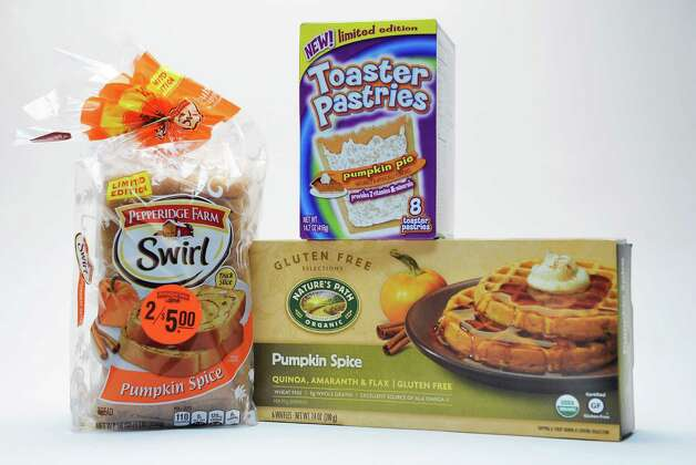 Pumpkin-spice-flavored products in the Times Union studio Tuesday Sept. 22, 2015 in Colonie, NY.  (John Carl D'Annibale / Times Union) Photo: John Carl D'Annibale / 00033442A