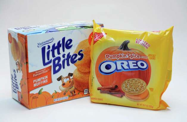 Pumpkin-spice-flavoredsnack foods in the Times Union studio Tuesday Sept. 22, 2015 in Colonie, NY.  (John Carl D'Annibale / Times Union) Photo: John Carl D'Annibale / 00033442A