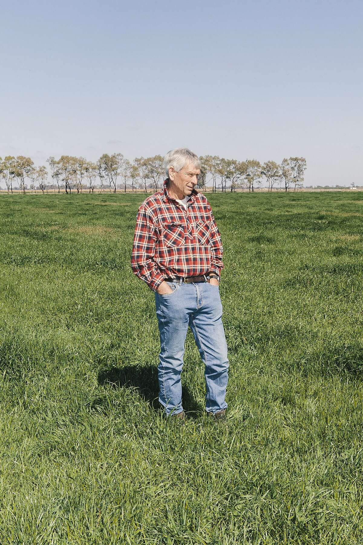 Russell Pell, owner of the dairy Pell Family Farms in Wyuna, Victoria, Australia, September 1, 2015.