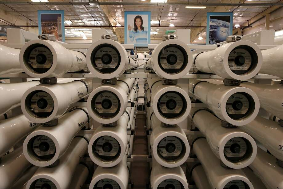 The reverse osmosis stage of the process at the Silicon Valley Advanced Water Purification Center, a San Jose demonstration project where treated wastewater is turned into potable water. Photo: Michael Macor, The Chronicle