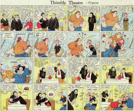 Thimble Theatre (1919 – Present) by Elzie SegarThimble Theatre was a wonderful strip, enjoyed by many, and then when the oneeyed sailor came along in 1929, it skyrocketed in popularity. Segar created some of the most memorable comic strip characters in Popeye, Olive Oyl, Bluto, Wimpy, Jeep, the Sea Hag… The list goes on! Popeye, of course, has become one of the most recognizable characters of all time, with animated cartoons, movies and heaps of licensed products.