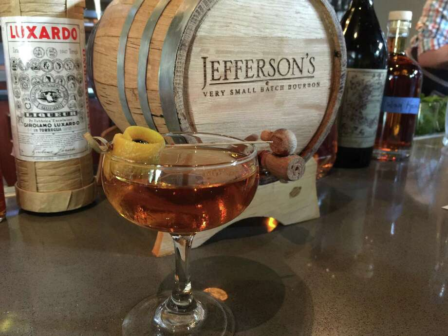 Smoke's No Way Home, a barrel-aged cocktail made with Jefferson's Very Small Batch Bourbon. Photo: Emily Spicer /San Antonio Express-News