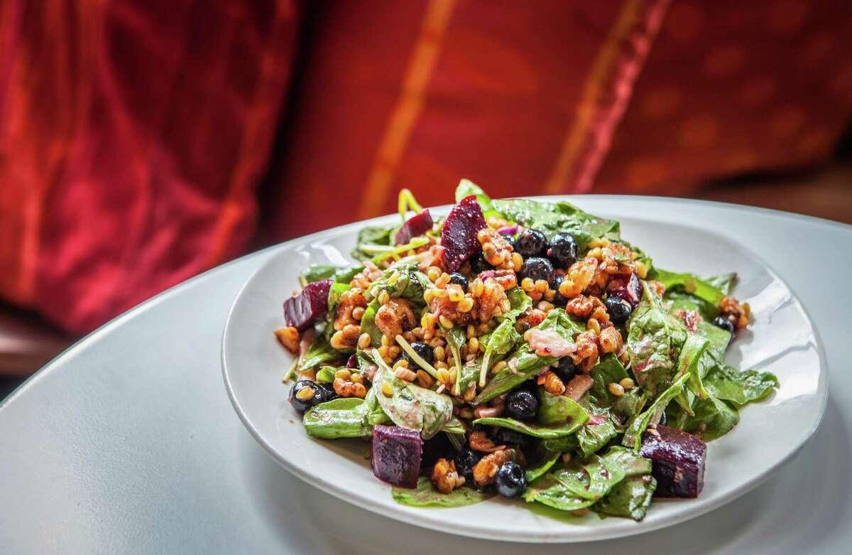 Pondicheri: Barley salad with roasted beets Pondicheri's barley salad with roasted beets.