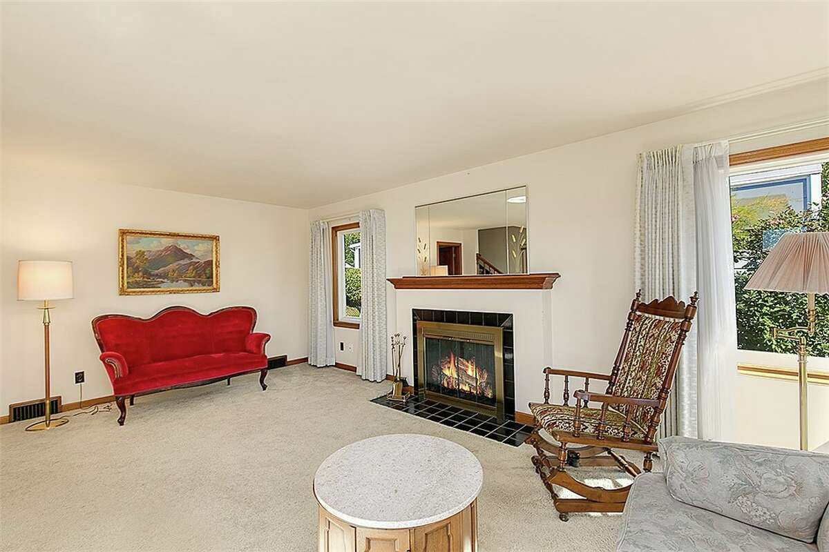 Living room at 3418 NW 65th St. in Ballard. The three-bedroom, 1.5-bathroom home is listed at $685,000.