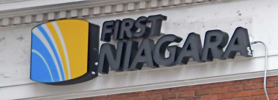 The First Niagara Bank logo on the side of 120 State Street  Wednesday afternoon Feb. 25, 2015 in Albany, N.Y.   (Skip Dickstein/Times Union) Photo: SKIP DICKSTEIN / 00030768A