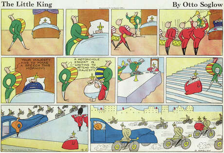 The Little King (1934 – 1975) by Otto SoglowThe King never had a name, but he never had anything to say, either; his humor was pantomime only. His childlike whims and approach to problemsolving always played through because nobody but the Queen had the authority to say no.