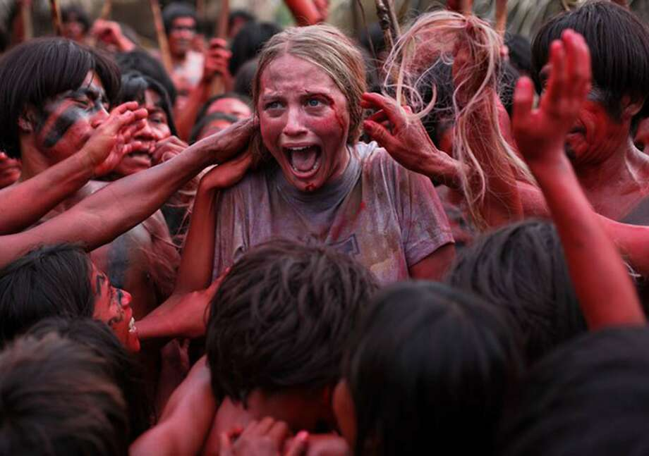 """Ignacia Allamand in """"The Green Inferno,"""" which starts out as a campus comedy giving protesters and political correctness the snarky treatment and turns seriously gruesome. Photo: Handout, McClatchy-Tribune News Service"""