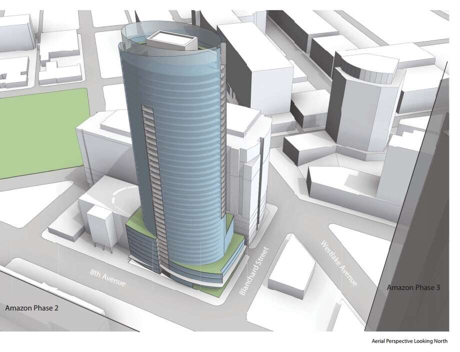This 40-story building with 447 residential units over 7,367 square feet of retail and 382 parking spaces below ground is planned for 2202 Eighth Ave. But it's only one of many tower projects in the works in the city. Photo: CITY OF SEATTLE DEPARTMENT OF PLANNING AND DEVELOPMENT