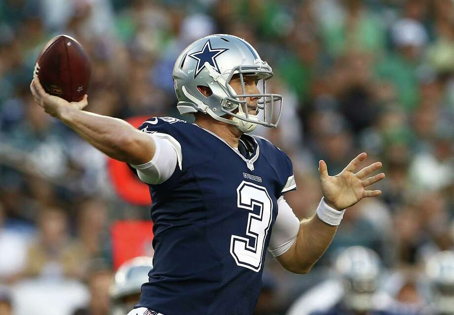 Quarterback Brandon Weeden of the Dallas Cowboys passes during the third quarter of a football game at Lincoln Financial Field on September 20, 2015 in Philadelphia. The Cowboys defeated the Eagles 20-10. Photo: Rich Schultz /Getty Images / 2015 Getty Images