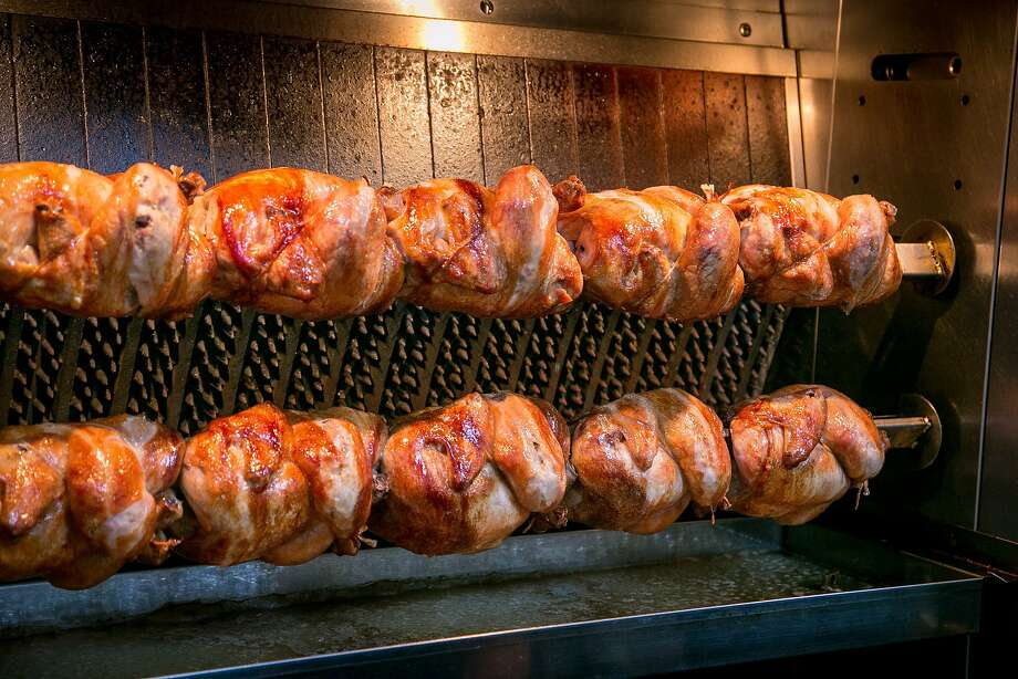 Chickens on the rotisserie at Souvla in San Francisco. Photo: John Storey, Special To The Chronicle