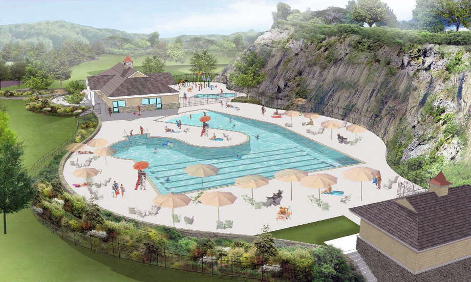 A preliminary rendering of the proposed municipal pool at Byram Park in Greenwich, Conn. More formalized designs and cost estimates are expected to be in within the next 60 days. Photo: Contributed Photo / Contributed /Junior League Of Greenwich / Greenwich Time Contributed