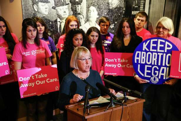 U.S. Senator Patty Murray speaks on September 18, 2015 at Planned Parenthood in Seattle as congress contemplates pulling funding for Planned Parenthood.