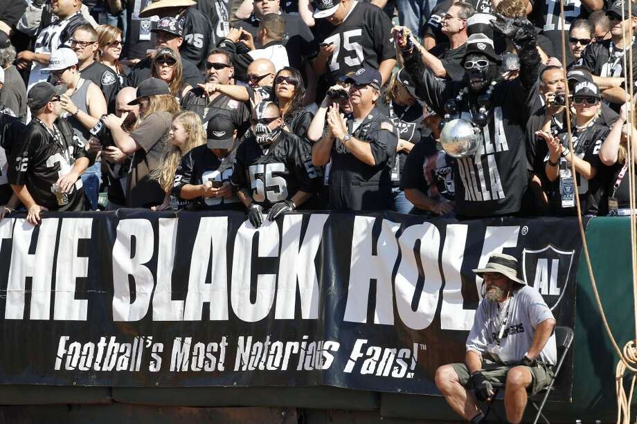 32. Oakland  The Black Hole is just that for the Raiders, who can't get out of that dump fast enough. It's the smallest and worst stadium in the NFL and for the last decade, the home team has determinedly played down to the level of its shabby environs. Photo: Tony Avelar, Associated Press