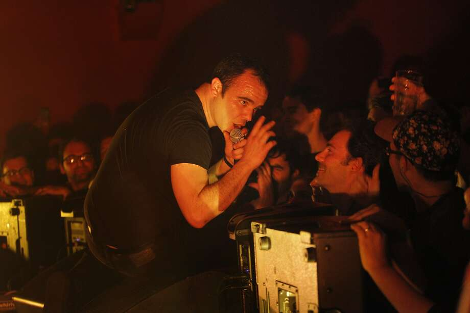 Future Islands, with lead singer Samuel Herring, will play at 8 p.m. at the Fox Theater in Oakland. Photo: Carlos Avila Gonzalez, The Chronicle