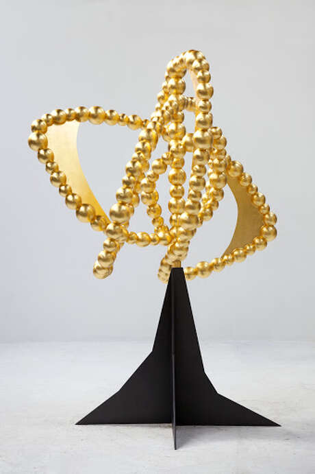 """La Rose des Vents"" by Jean-Michel Othoniel, 2015, aluminum, steel and gold leaf."